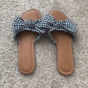 Old Navy gingham bow sandals